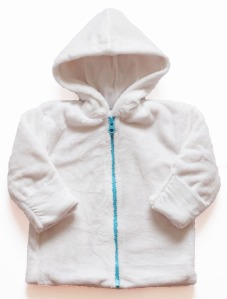 Tamiko organic cotton fleece jacket, available for preemie up to 2 years