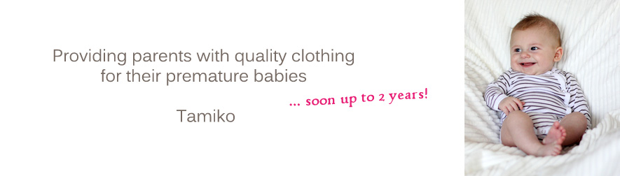 Tamiko organic clothing for preemie to 2 years